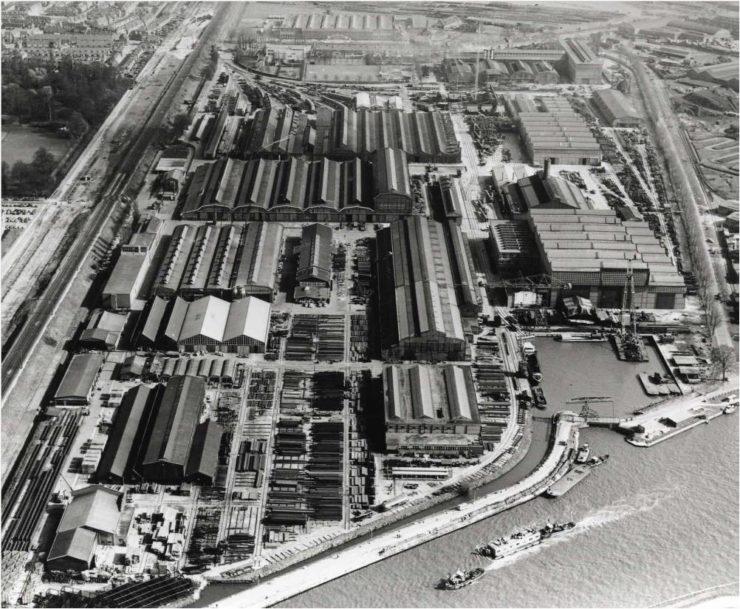 Luchtfoto Werkspoorkwartier anno 1960
